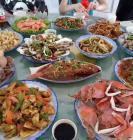 东戴河农家院、海鲜大餐十人餐