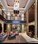 成都家装设计上海花园200平新中式风格