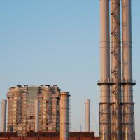 呼和浩特石化炼油厂生产大楼开荒保洁