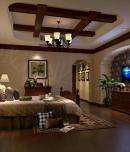 雍湖湾叠拼别墅装修设计之美式风格