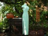 真丝蕾丝边旗袍