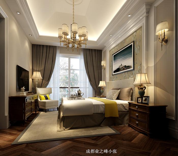 成都业之峰在三利宅院设计之主卧室