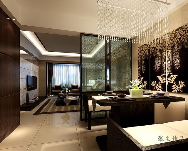 装饰公司香榭国际100平米房子装修图,基础装修报价:5万,主材搭