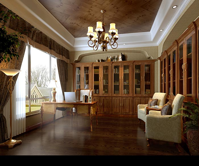 别墅400平米美式风格装修