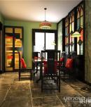 成都家装设计业之峰金沙西园-167㎡-美式风格