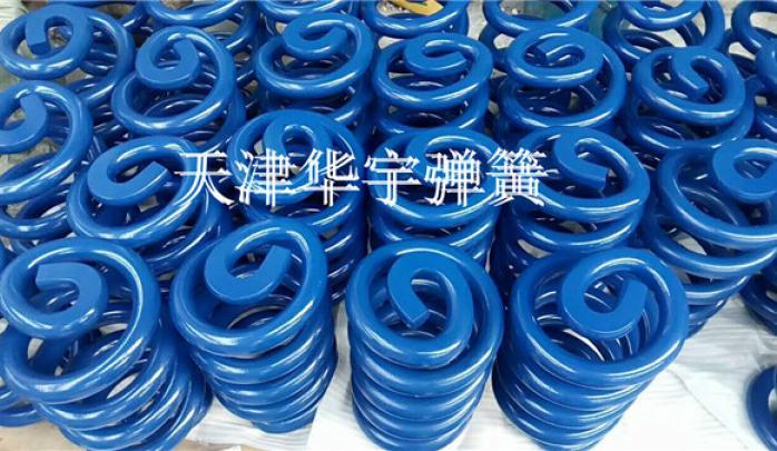 蓝色振动筛弹簧31.9x204.5x390.5x6.5