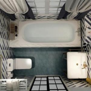 你别说,4.5㎡的卫生间放浴缸,看着大