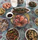 东戴河农家院、经济实惠六人餐