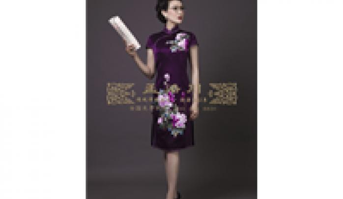 时尚手工刺绣旗袍