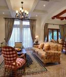 成都汇巢别墅装修设计麓山国际300平经典美式风格