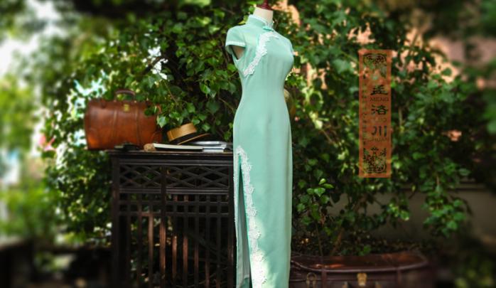 蕾丝旗袍定制