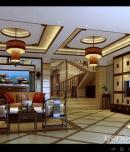 成都别墅装修设计芙蓉古城336㎡别墅新中式风格