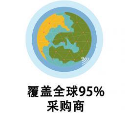 覆盖全球95%的采购商