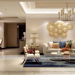 城南华府160平现代美式风格软装设计