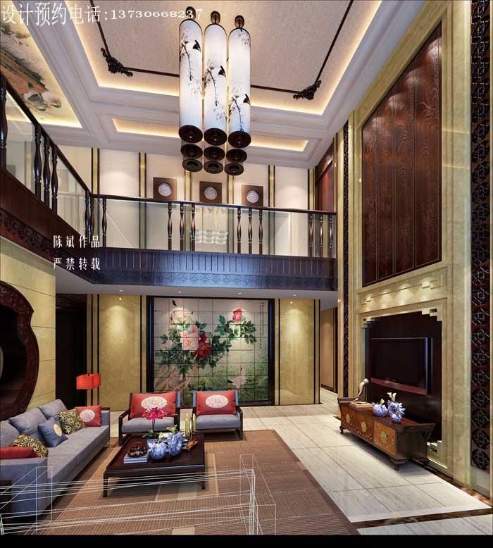 家装设计,上海花园新中式风格装修案例 成都业之峰装饰公司